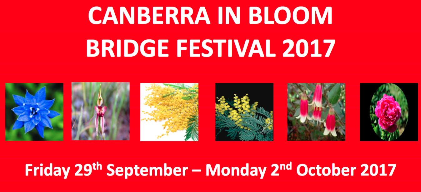 Canberra in Bloom Friday 29th September – Monday 2nd October 2017